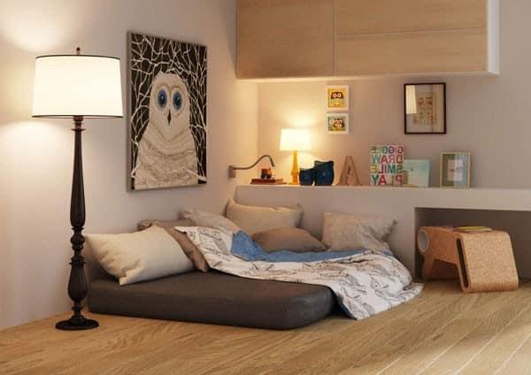Вариант спального места для подростка в однокомнатной квартире