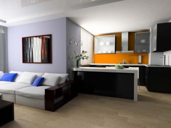 Барная стойка в квартире: отделяем гостиную от кухни