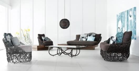 Кованая мебель в интерьере гостиной