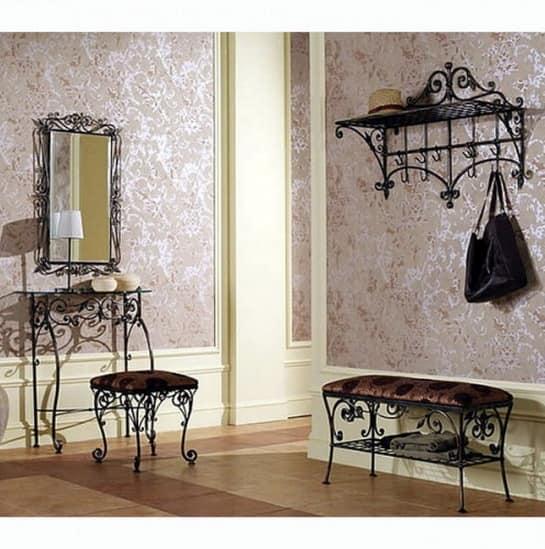 Кованая мебель для прихожей - просторно и элегантно