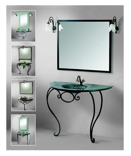 Ковка в интерьере ванной - сочетание металла и стекла