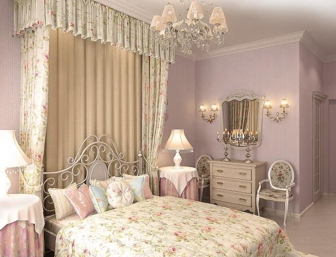 Ковка в интерьере спальни
