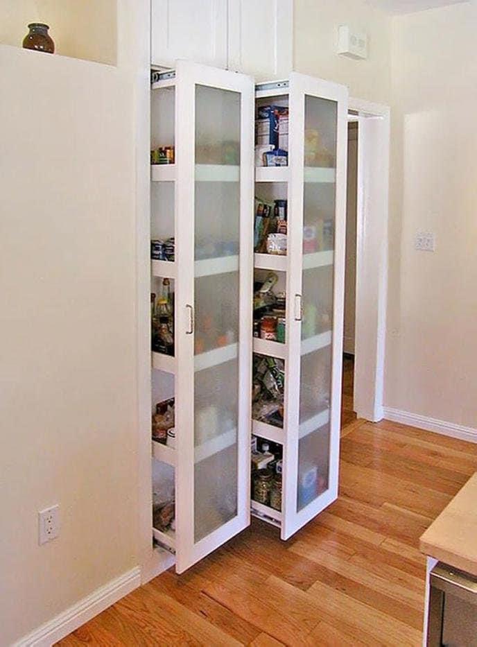 Выдвижная кладовка - ультрасовременное решение проблемы кухонного пространства