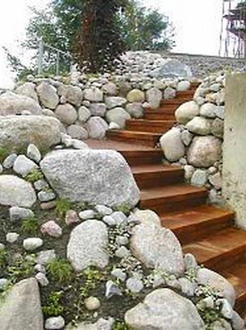 Оформление лестницы в садовом дизайне