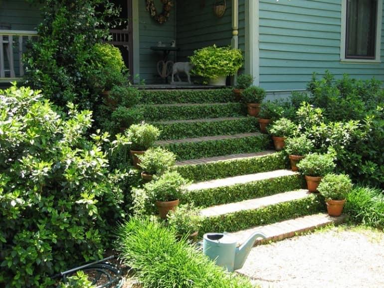 Лестница для сада в стиле кантри