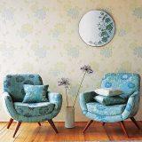 Кресла в уголке для чтения для двоих