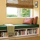 Храним книги под местом для чтения