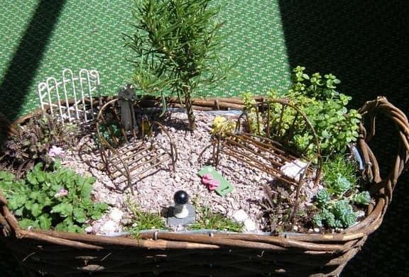 Миниатюрный сад - имитация настоящего сада