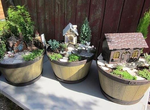 Миниатюрные сады в цветочных горшках