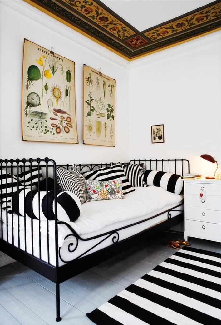"бело-черная спальня в стиле ""сафари"""