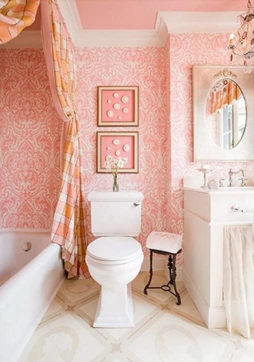 Интерьер ванной в винтажном стиле