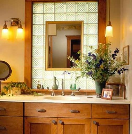 Освещение в ванной в стиле прованс