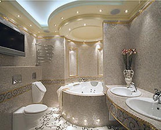 Декоративное и функциональное освещение ванной комнаты