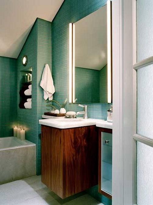 Подсветка зеркала в интерьере ванной комнаты