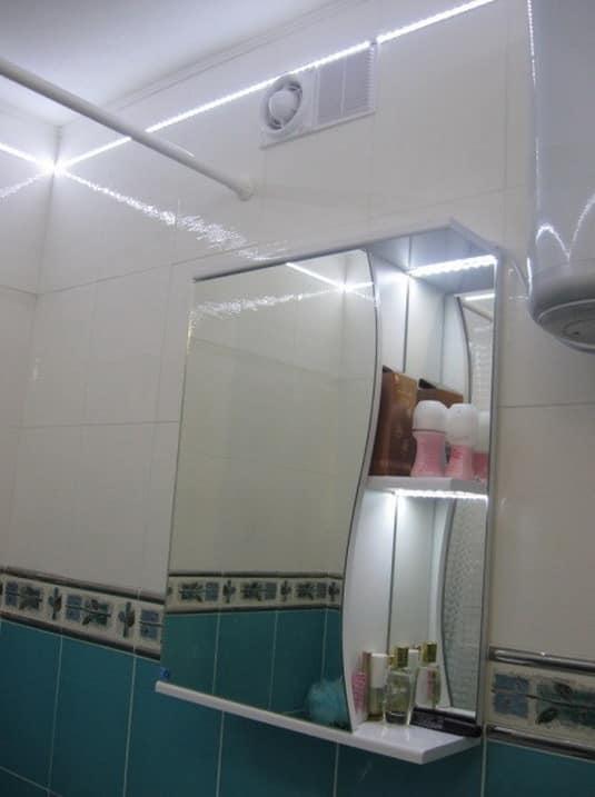Освещение в интерьере маленькой ванной