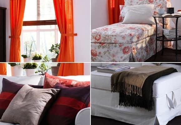 Чехлы на мебель, шторы и подушки - изменяем дом к весне