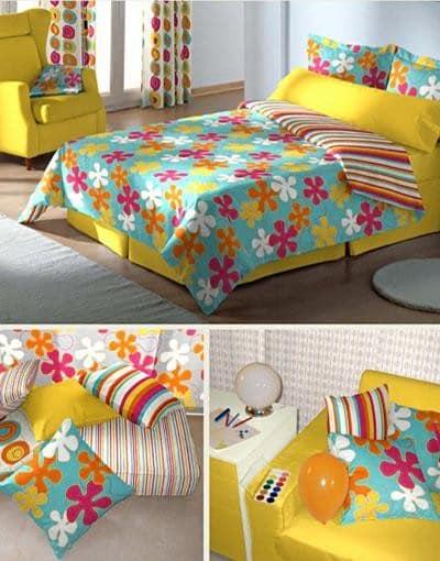 Яркий, солнечный текстиль, чтобы изменить квартиру к весне