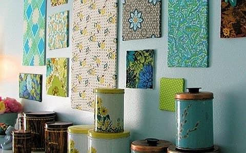 Панно на стену из ткани: весенний декор