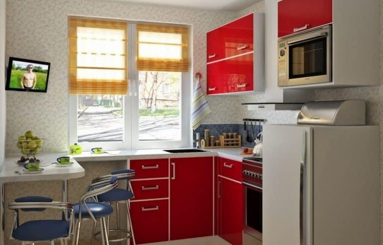 Угловая мини-кухня в доме фото