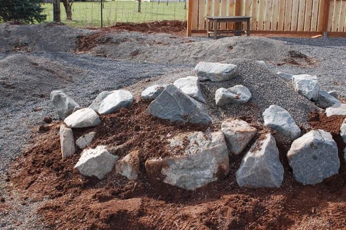 Мелкие камни для формирования альпинария