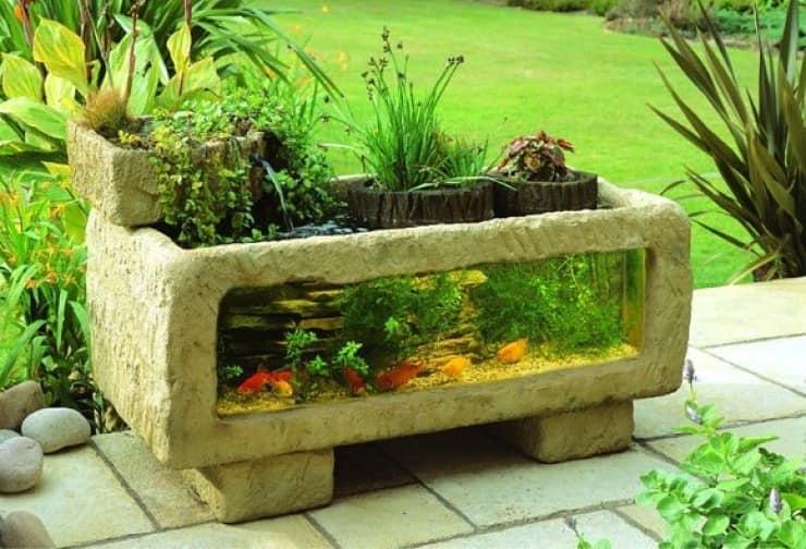 Садовый аквариум в ландшафтном дизайне фото