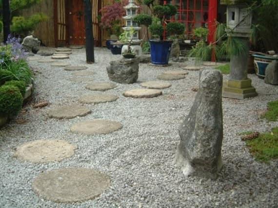 Песчаный аренарий и японский сад камней фото