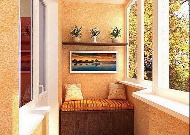 Ящик-диван для хранения овощей на балконе
