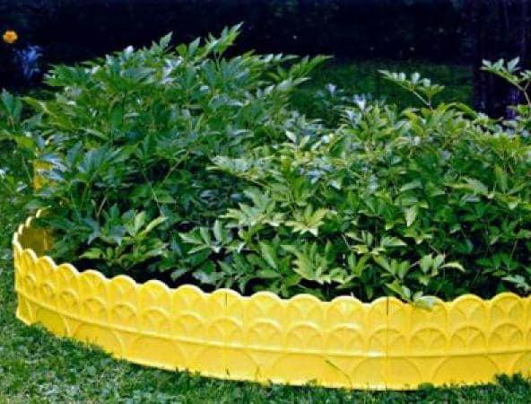 Декоративное ограждение для грядок из пластика