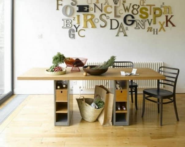 Объемные буквы на стене как элемент декора и акцент в интерьере, подчеркивающий его стиль