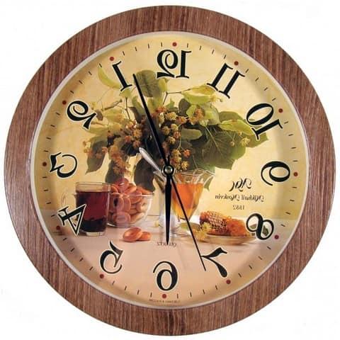 Кухонные часы с изображением натюрморта