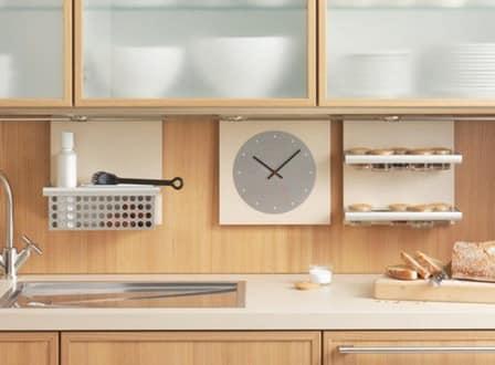 Часы на рейленге очень популярны на современной кухне