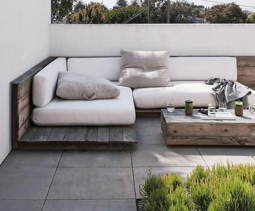 Деревянная мебель своими руками для уголка отдыха в саду