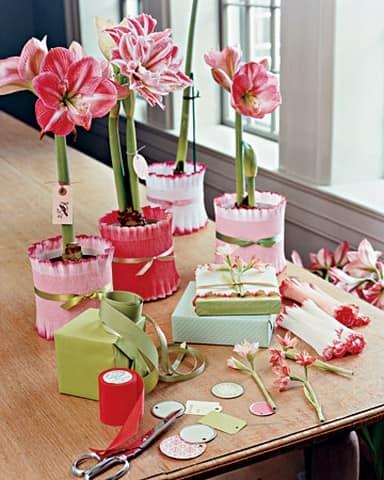 Как украсить цветочный горшок с помощью подручных средств