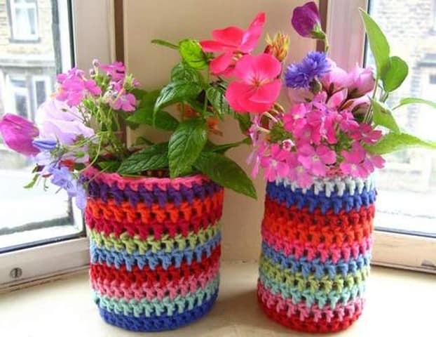 Как украсить цветочные горшки своими руками из