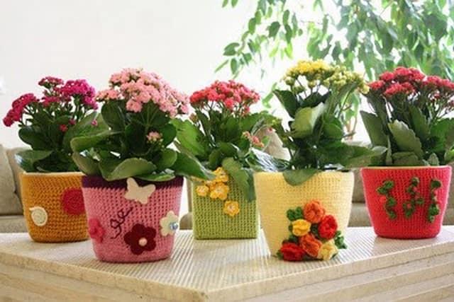 Горшки для цветов как украсить