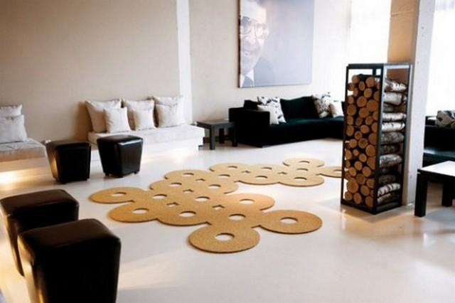 Ковер абстрактной формы для гостиной