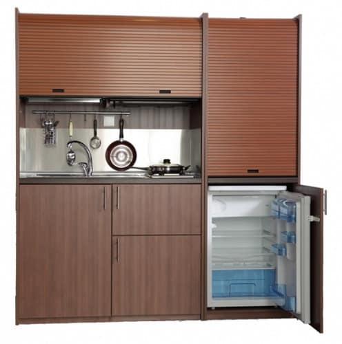 Миникухня-шкаф с холодильником