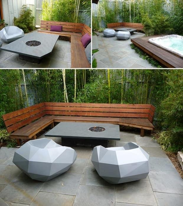 Необычная футуристическая мебель для уголка отдыха на улице фото