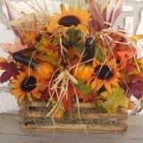 Осенний букет для декора подоконника
