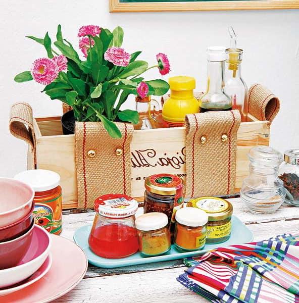 Ящик для мелочей - удобное и красивое решение для сервировки на пикнике