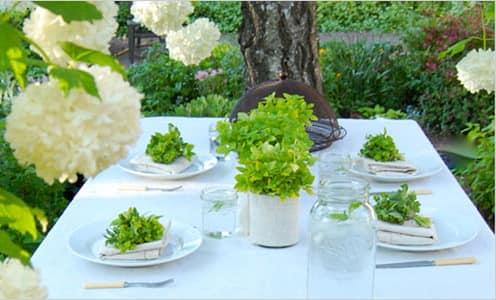 Букеты из столовой зелени - украшение стола для пикника