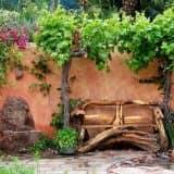 Скамейка из коряг
