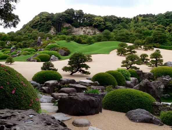 Мхи в японском саду камней