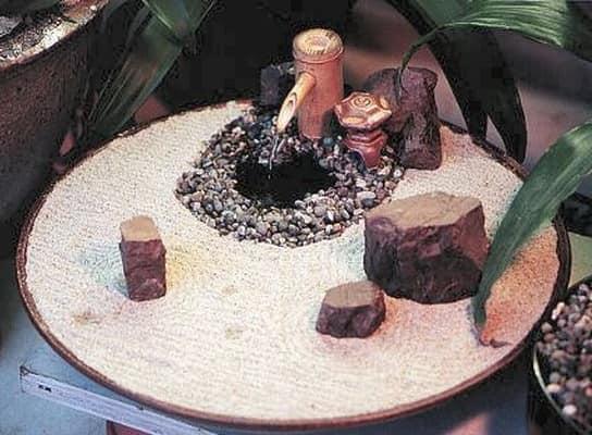 Сад камней в миниатюре