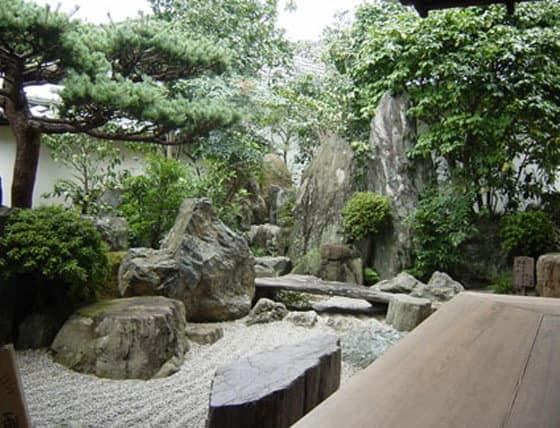 Элементы японского сада камней