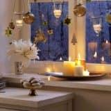 Украшаем подоконник свечами