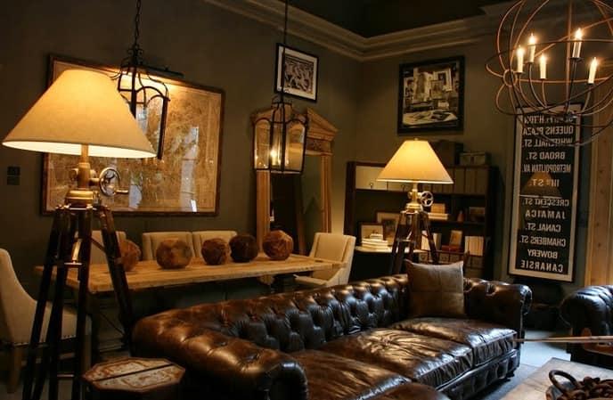 Жилая комната в стиле стимпанк