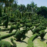 Сад скульптур животных из растений