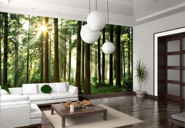 Реалистичный пейзаж с преобладанием природных оттенков на фотообоях