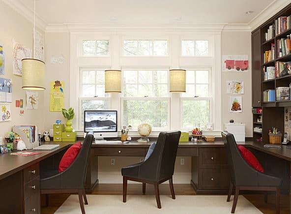 Домашний кабинет для всей семьи